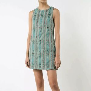 Alice & Olivia Clyde dress blue beaded